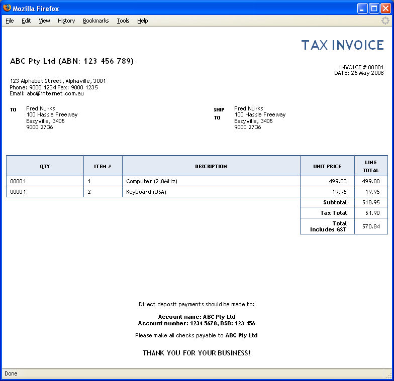 Awesome Sample Invoice Sample Receipt