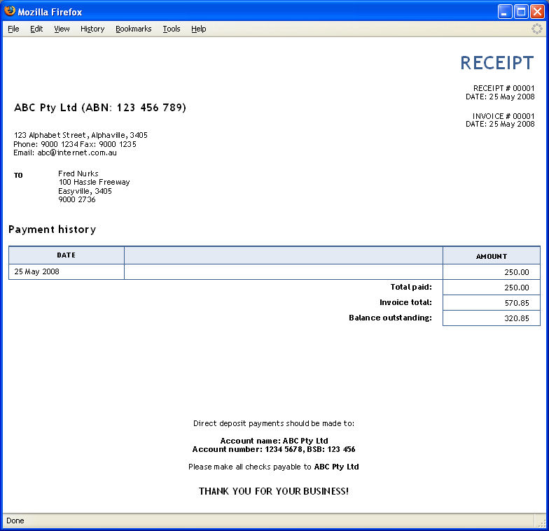 Work Receipt Pdf Receipt Or Invoice Template Receipt Slip Pdf with Open Source Billing And Invoicing Word  Sample Invoice Receipt  Receipts For Tax Excel