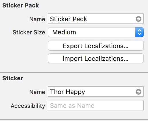 Sticker Properties